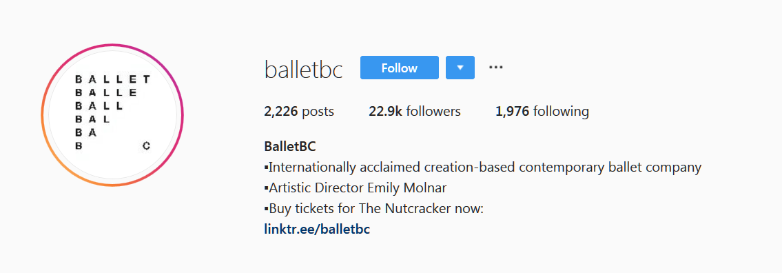 Social media marketing tips you should know about: ballet bc instagram