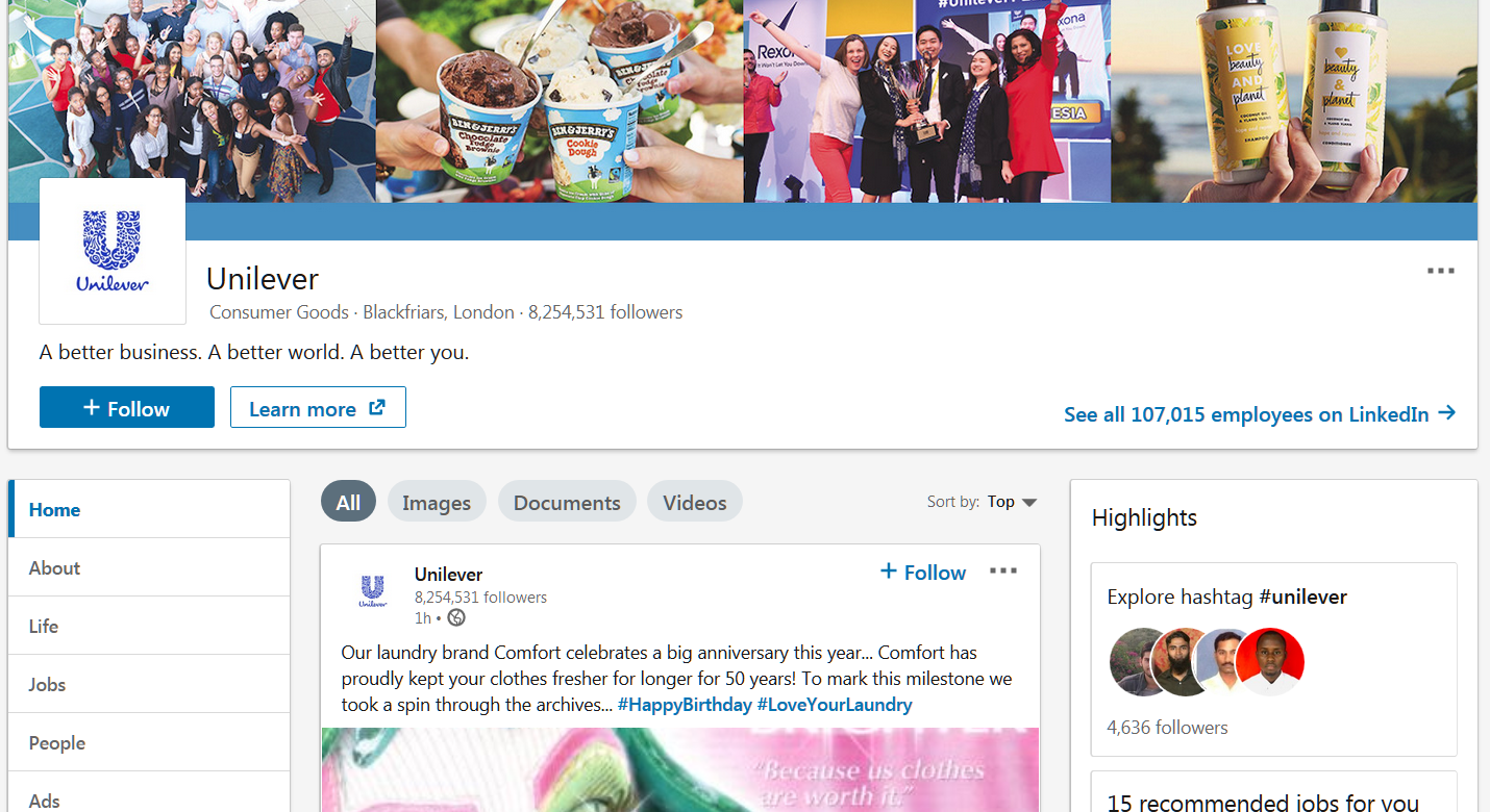 linkedin marketing tips you should know about: unilever